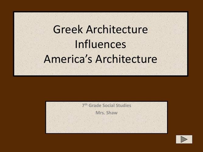 Greek Influences