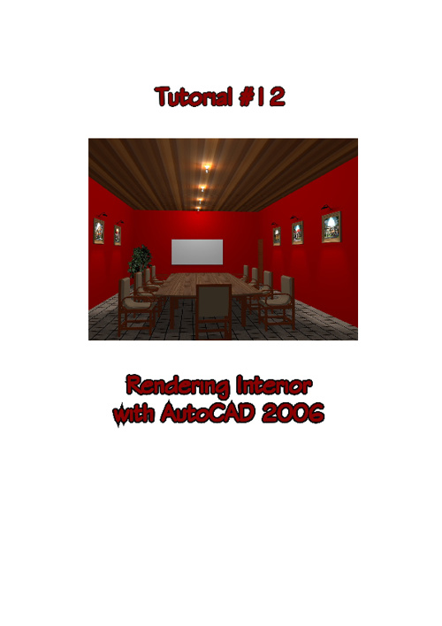 Rendering Interior with AutoCAD 2006
