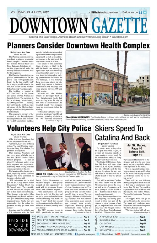 Downtown Gazette  |  July 20, 2012