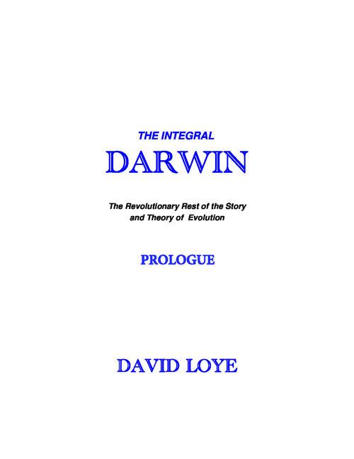David Loye: Integral Darwin (Prologue)