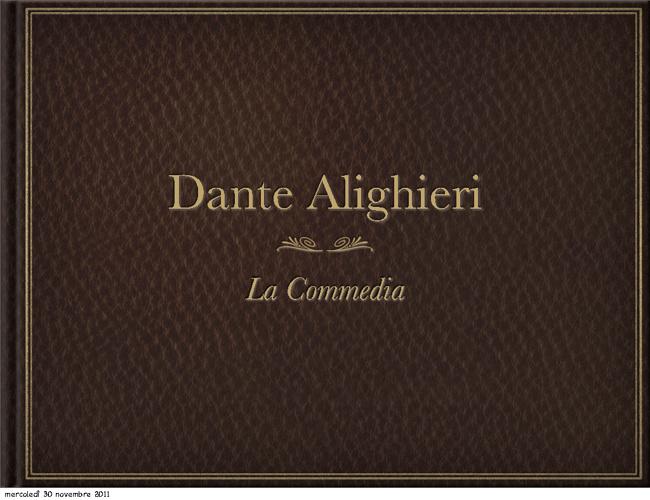 "Dante Alighieri - ""La Commedia"""