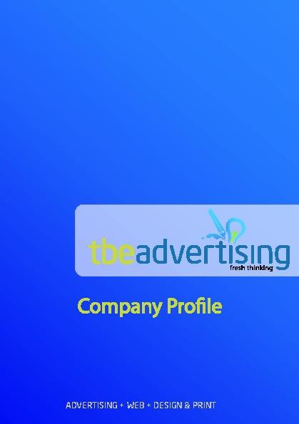 TbeAdvertising Company Profile