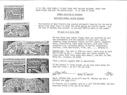 Oglebay 1990 Invitation