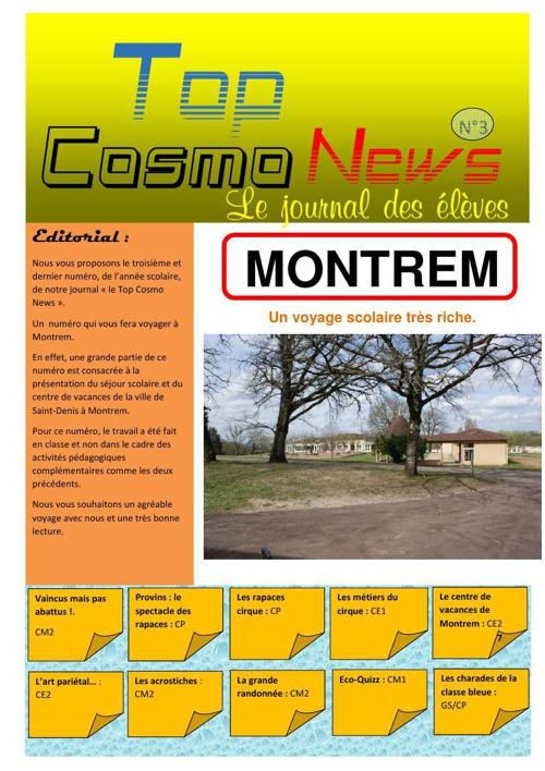 Top Cosmo News numéro 3