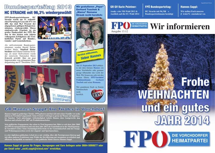 FPÖ Vorchdorf - Wir informieren Dezember 2013