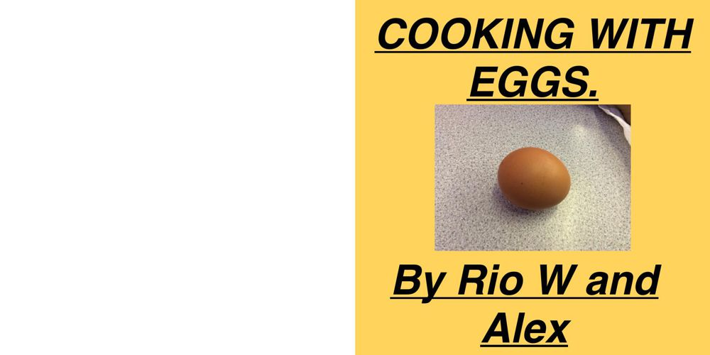 A new bookcooking with eggs