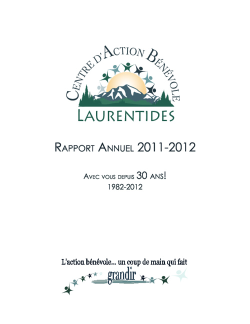 Rapport annuel CABL 2011-2012