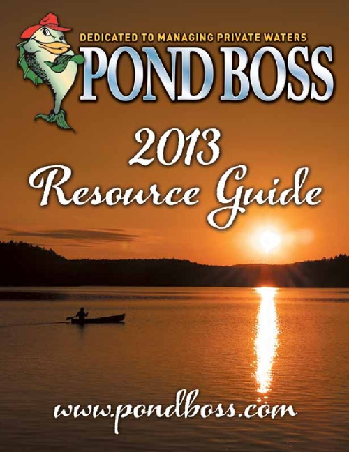 2013 Pond Boss Resource Guide