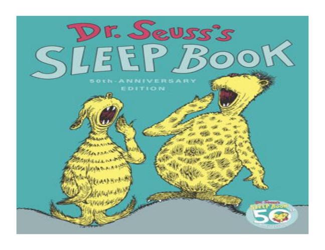 Dr. Seuss's Dino Sleep Book 2014 - flip