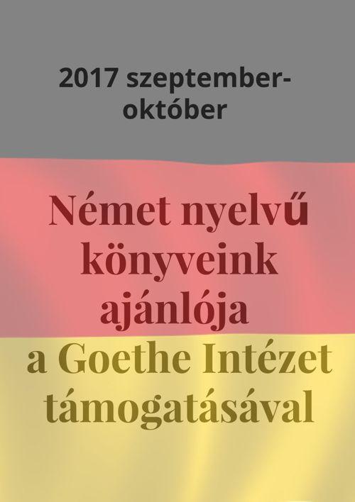 Német nyelvű könyvek ajánlója -2017 szeptember