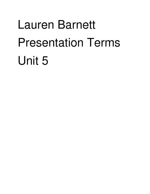presentaion terms