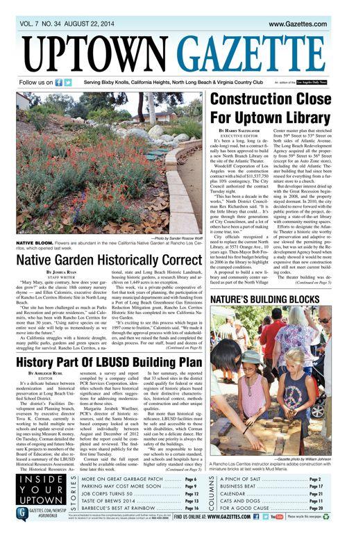 Uptown Gazette  |  August 22, 2014