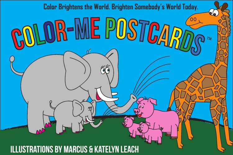 Color-Me Postcards Book