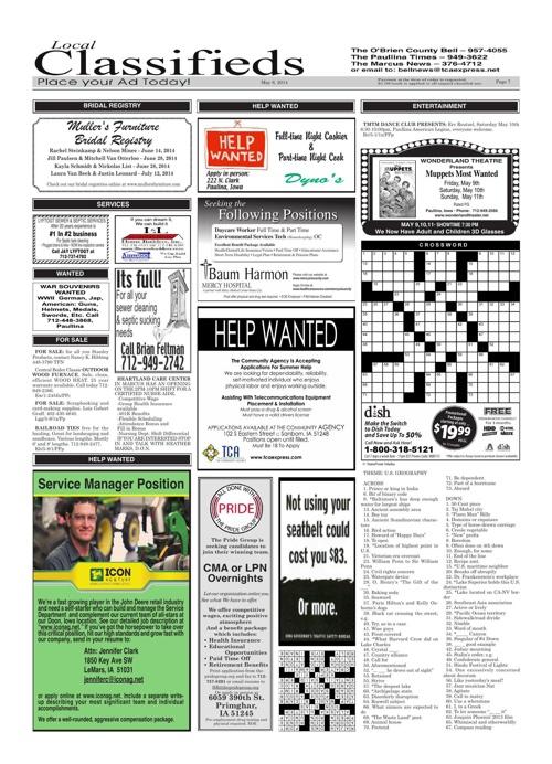 The Paullina Times - May 8, 2014