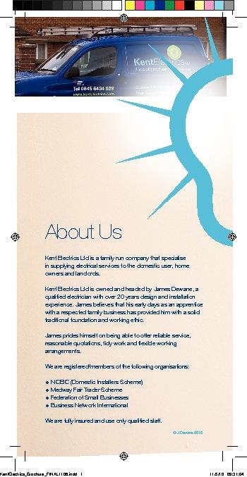 Kent Electrics Brochure