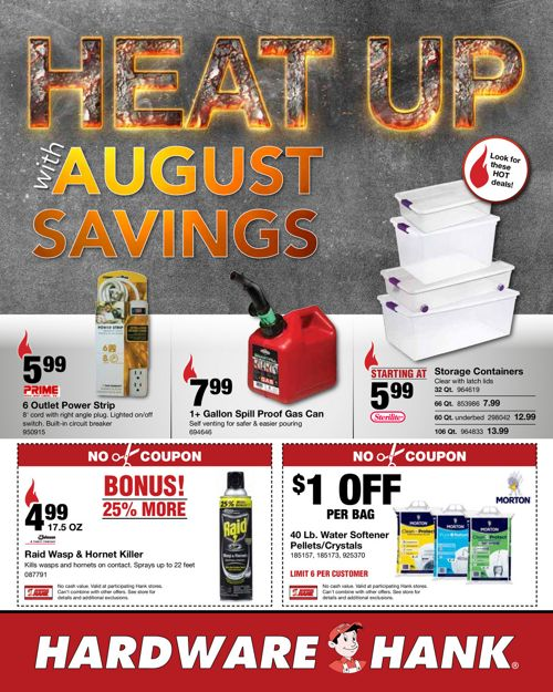 Shelby Paint & Hardware - August Flyer
