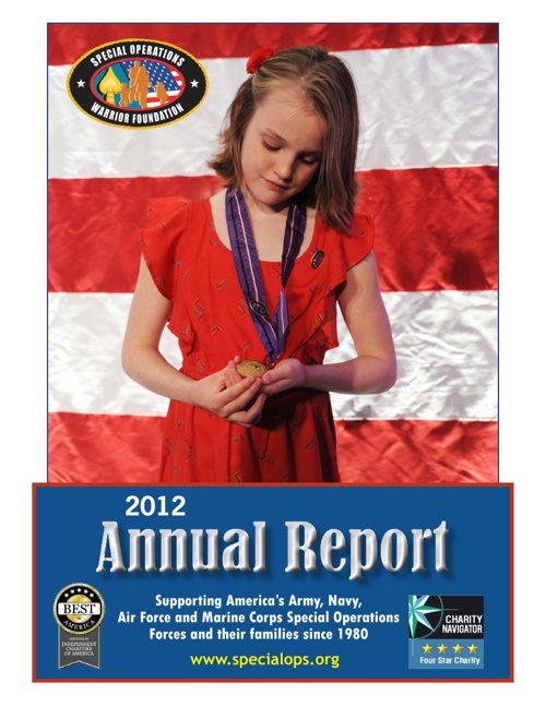 2012 Annual Report for Special Operations Warrior Foundation