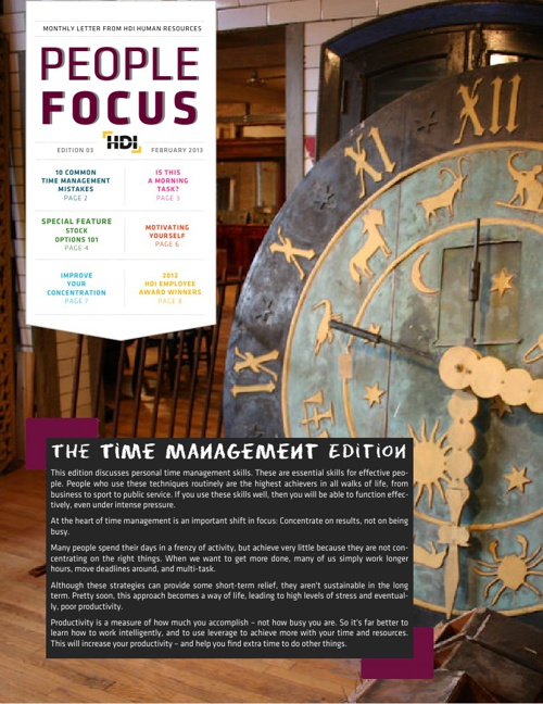 People Focus - The Time Management Issue