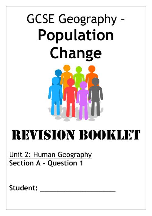Population Change - REVISION BOOKLET