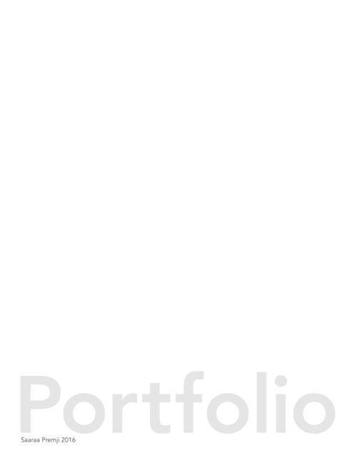 SaaraaPremji_Portfolio2015