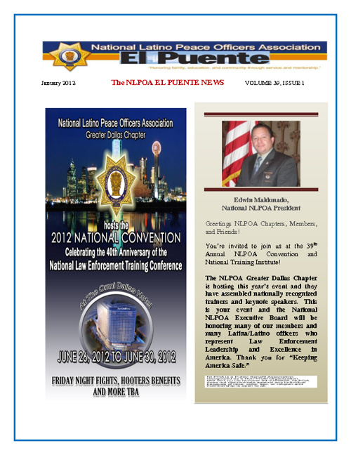 NLPOA EL PUENTE Newsletter January 2012
