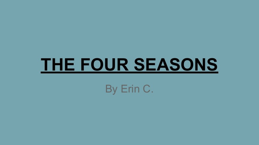 FINAL 4 Seasons Erin