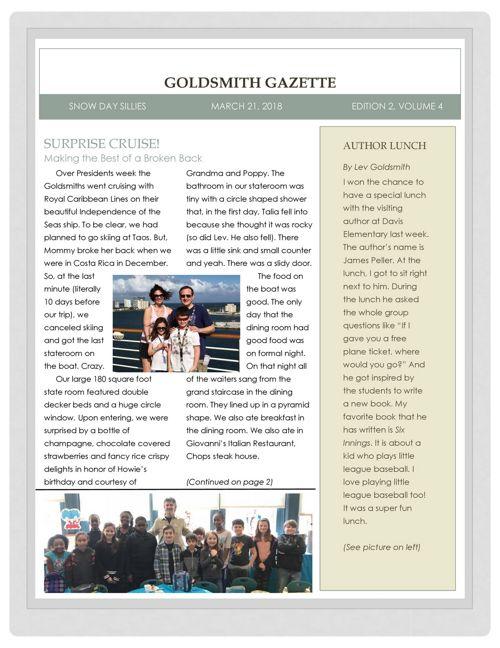 Goldsmith Gazette March 21, 2018