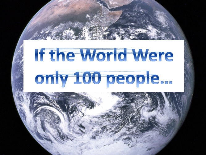 If the World Were Only a 100 People...