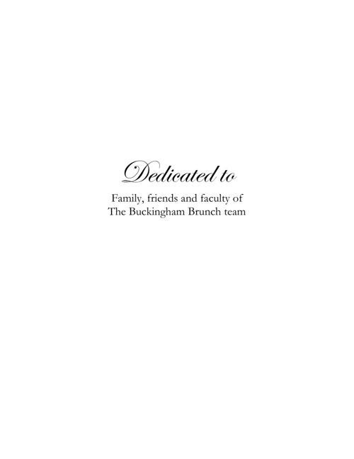 The Buckingham Brunch's Recipe Booklet