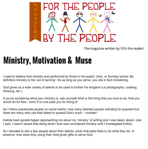 For the People, By the People Magazne_Ministry