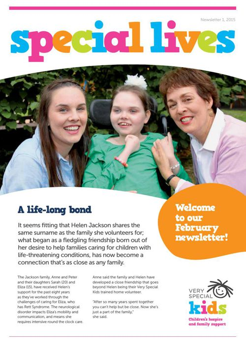 Very Special Kids - Special Lives Newsletter 1, 2015