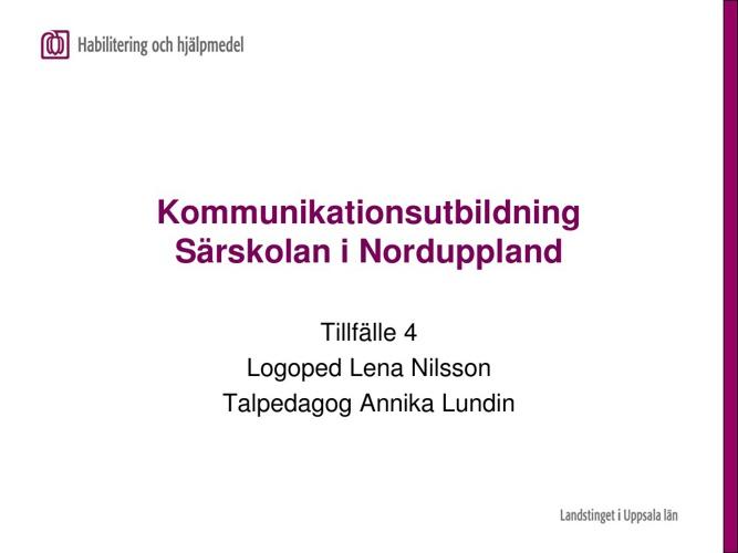 Kommunikationsutbildning 2011/2012 - tillfälle 4