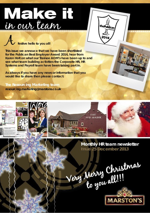 Festive Edition of the Team Newsletter