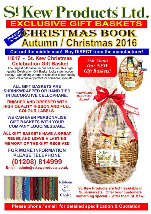 St. Kew Products Ltd. Gift Basket Range Autumn / Christmas