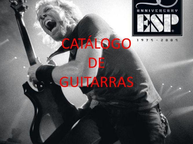 CATÁLOGO DE GUITARRAS