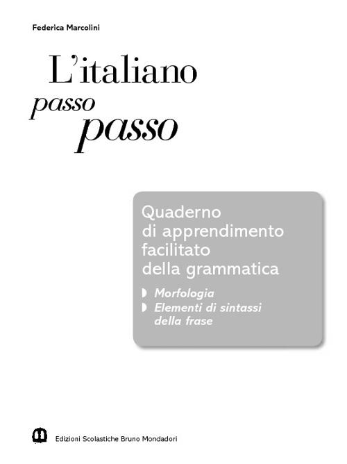 Apprendimento facilitato della grammatica-interactive book ita