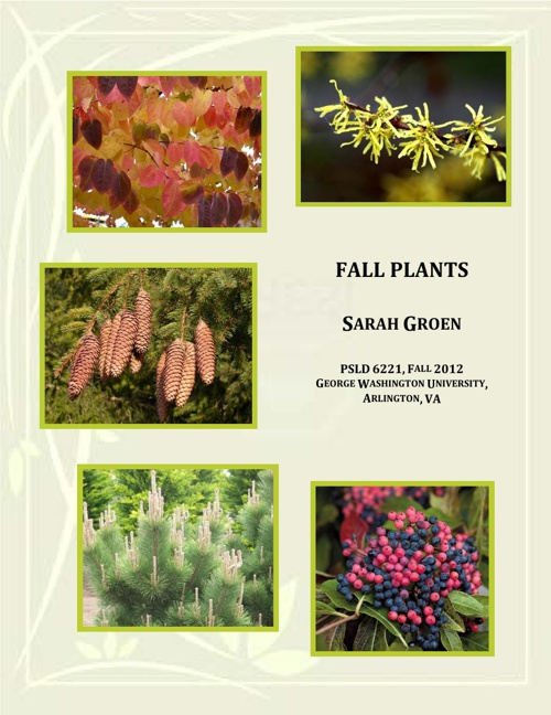 Sarah Groen Fall Plants Notebook