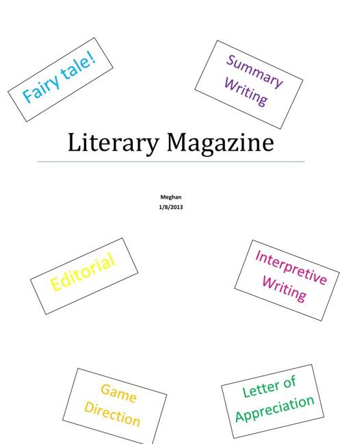Literary magazine- Meghan Machenheimer