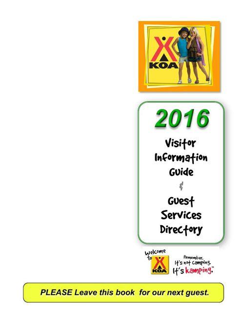 Estes Park KOA - Guest Services Directory