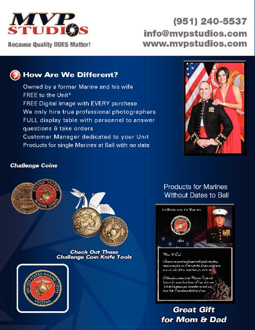 MVP Studios Marine Corps Ball Photography Services