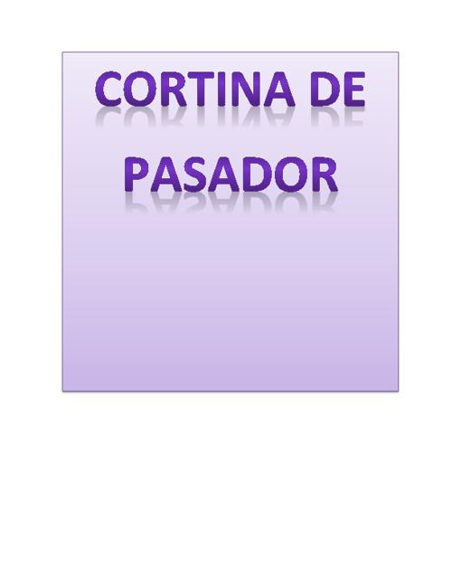 CORTINA DE PASADOR