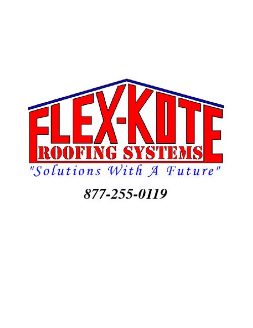 FlexKote Roofing Brochure Package