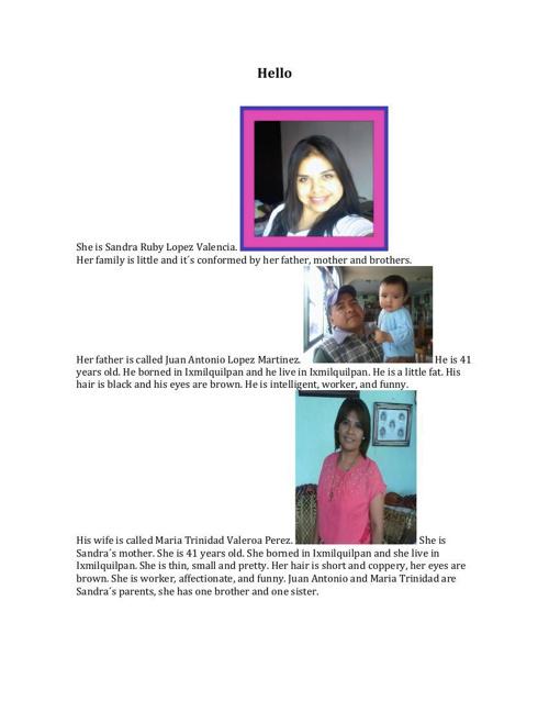 Family Information Regina Bautista