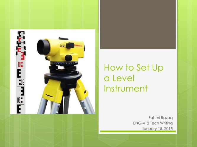 How to Set Up a Level Instrument