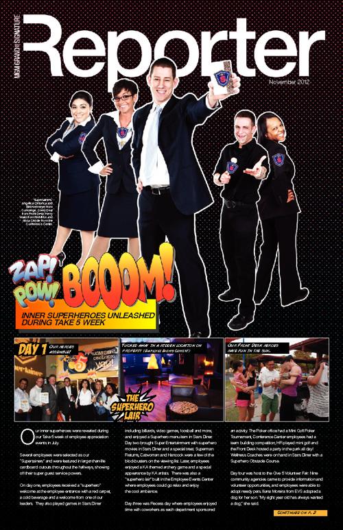 MGM Grand Reporter Newsletter – November 2012