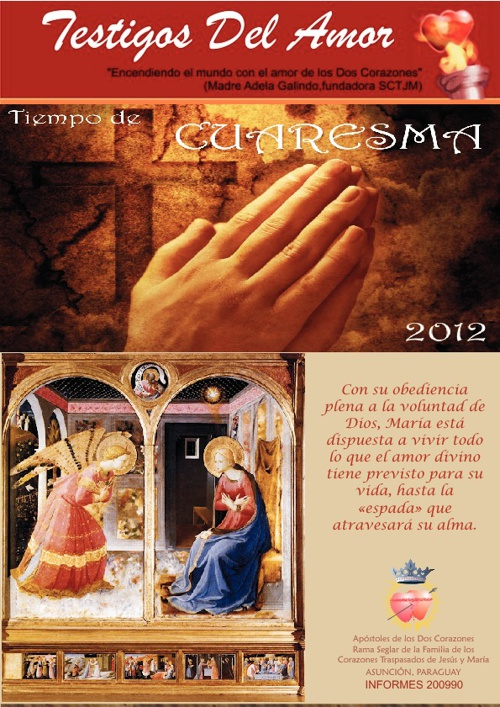 Revista TESTIGOS DEL AMOR - Marzo 2012