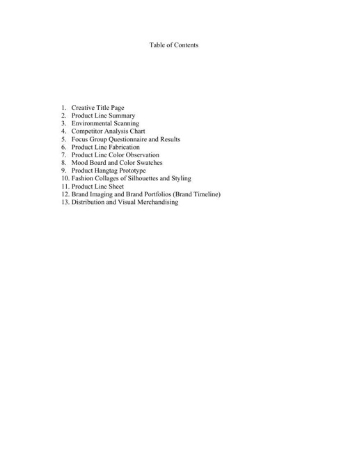 PD-Table of Contents