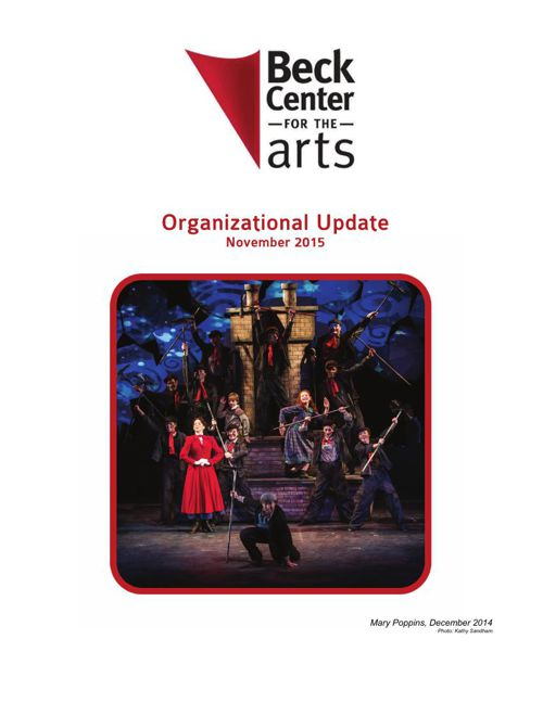 Beck Center Organizational Update Nov2015