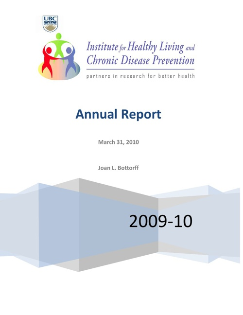 2009 - 2010 IHLCDP Annual Report