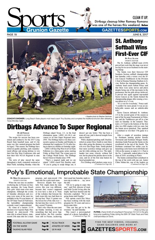 Gazette Sports     June 8, 2017